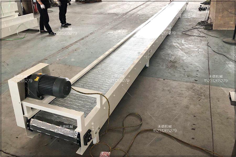 东营艾条生产包装线链板输送机、不...