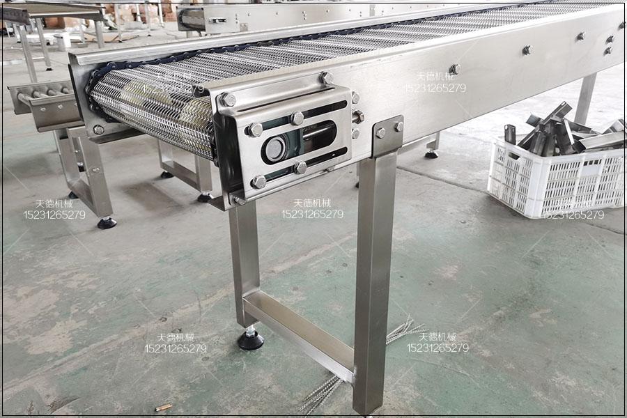 常德食品生产线不锈钢冲孔链板输送机
