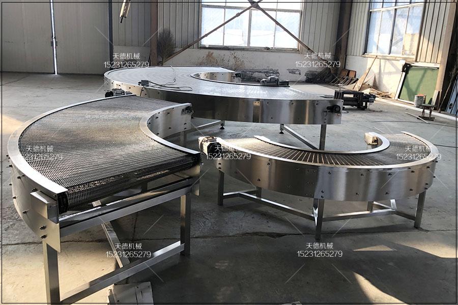 邯郸杏子罐头生产线网带输送机与转...