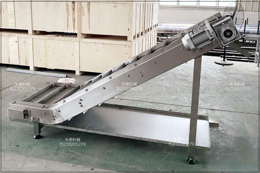 邯郸红芸豆罐头生产线带式爬坡输...