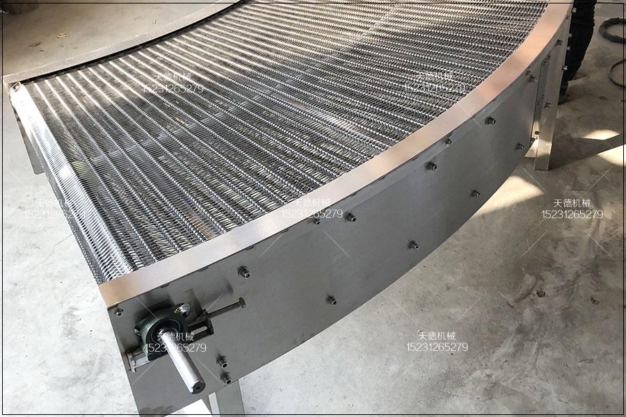 眉山吸塑托盘不锈钢输送网带输送机
