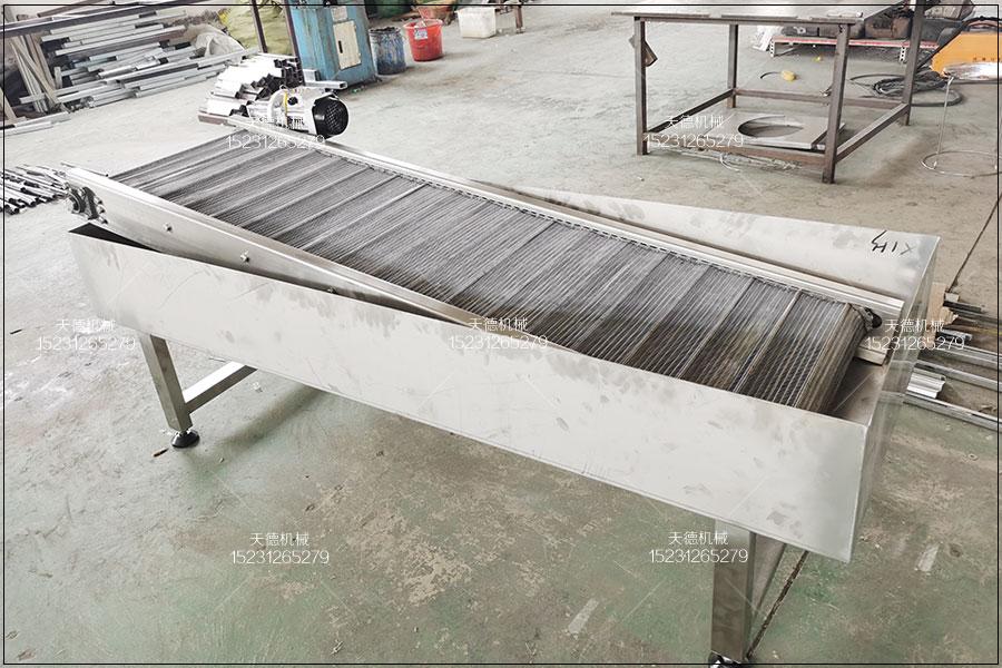 福建海白菜清洗输送不锈钢网带输送机