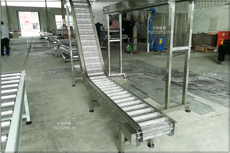 嘉兴藕尖包装线皮带输送机、爬坡输...