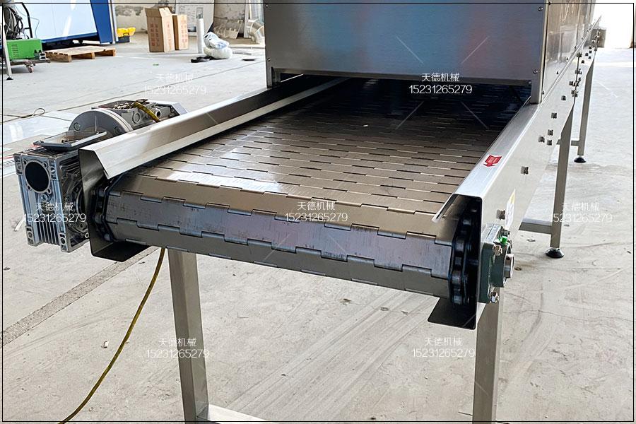 食品生产线不锈钢链板输送机组...